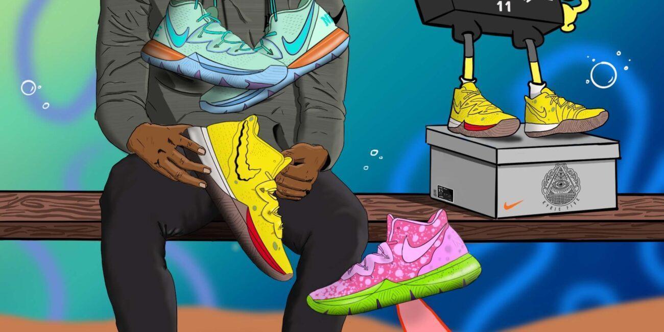 Nike Kyrie 5 in Bob Sponge